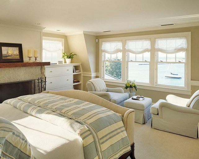 Coastal Bedroom Design. This is the kind of coastal bedroom design that no one can get tired of. #Coastal #Bedroom #InteriorDesign