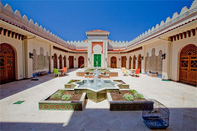 Enclosed Courtyard With 3 Fountains. Approx 3,500 Sq Ft. This Might Be My  Favorite Place Of This House. Part 53