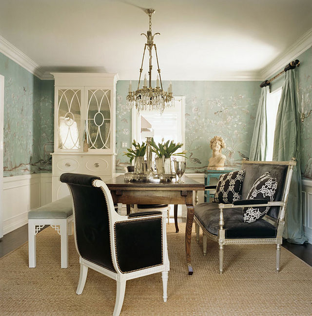 stunning dining room i love the settee the bench and all the