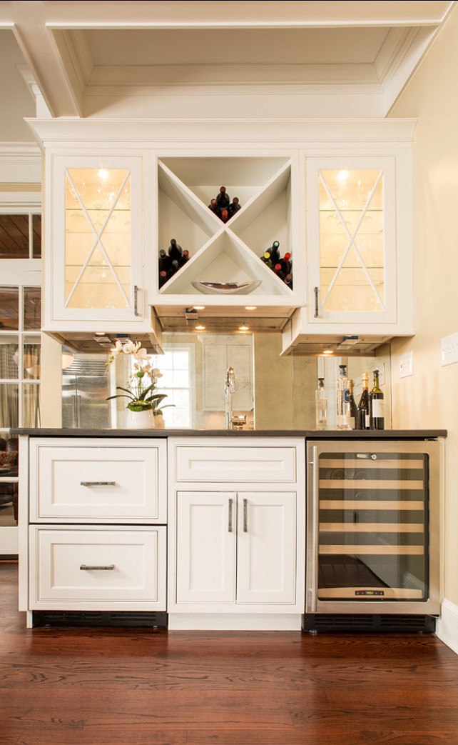 Kitchen Bar Staion. Great bar or coffee station in this kitchen. #Kitchen #Bar #Cabinet #CoffeeStation