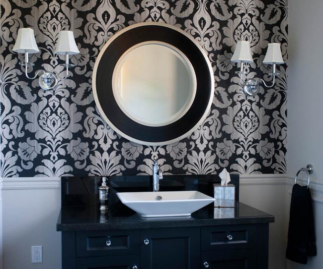 Bathroom Wallcovering French Toile Room Decor Bathroom: Home Bunch Interior Design Ideas