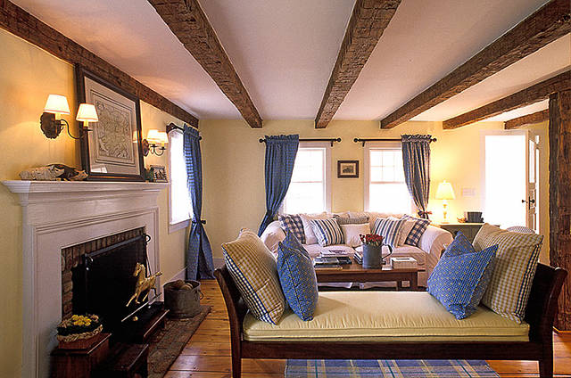 The Living Room Has Beautiful Beams And An English Country Feel.