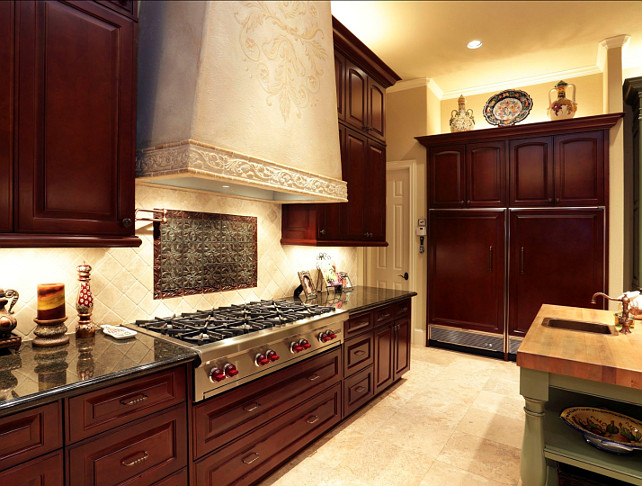 Kitchen Hood. Great stone kitchen hood. #Kitchen #Hood #Stone