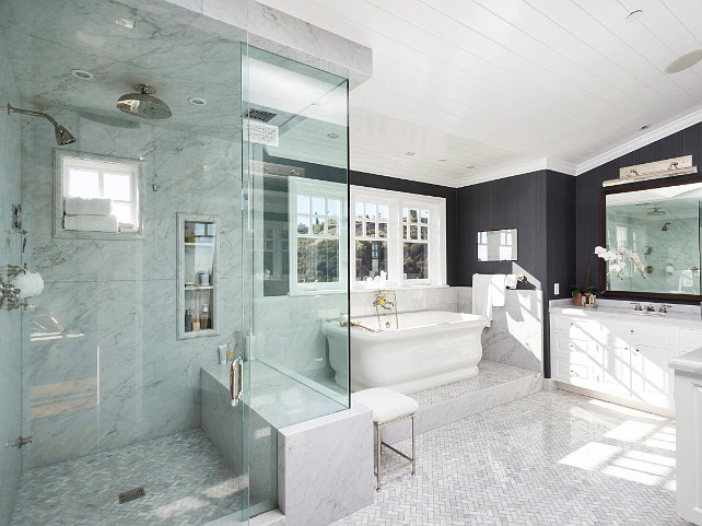 Bathroom. Great flooring and tiling are found in this bathroom. #Bathroom #Tiling #Interiors