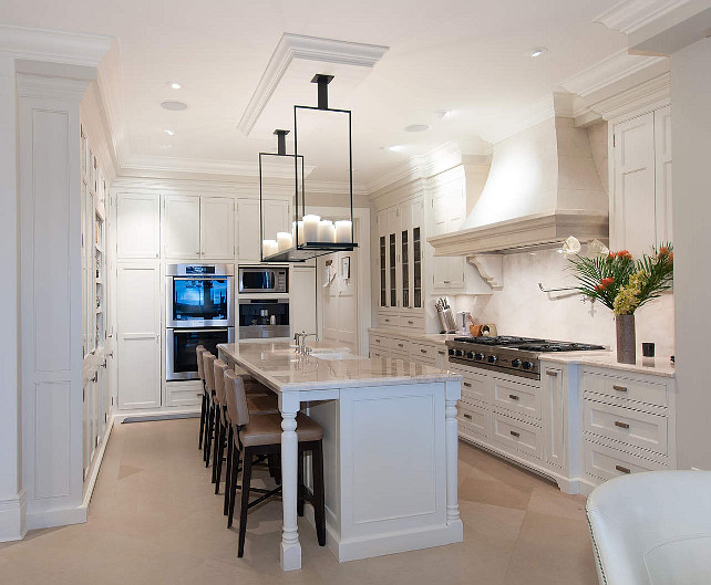 Crisp White Kitchen. Perfect Crisp White Kitchen Paint Color. #CrispWhite #Kitchen