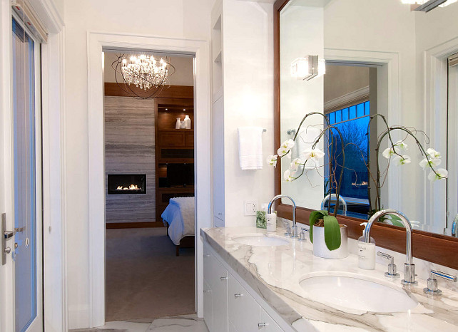 Bathroom. This is a very elegant bathroom. Great marble accents. #Bathroom #Marble