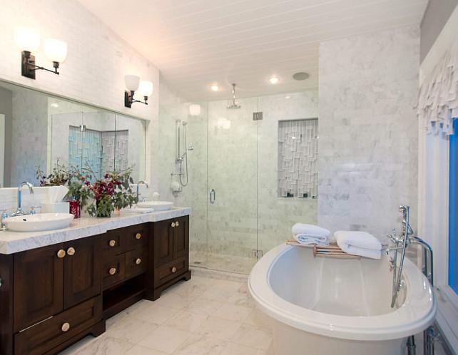 Bathoom Cabinet Ideas. Beautiful bathroom cabinets! Love the hardware. #Bathroom #Cabinets #Hardware