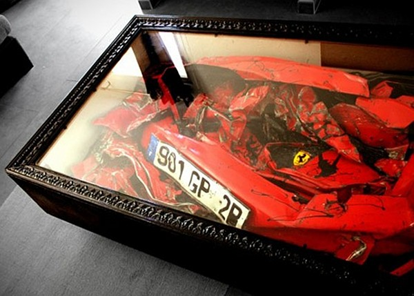 Cool Or Fool Display Your Crashed Ferrari Home Bunch